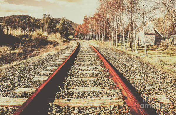 Railroads Photograph - Washed Out Lines by Jorgo Photography - Wall Art Gallery