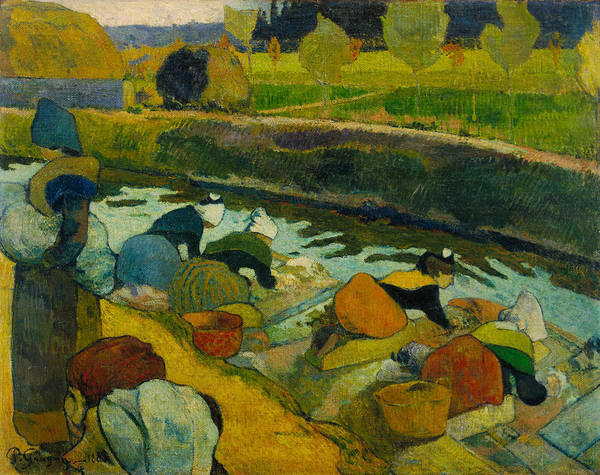 Post-impressionist Painting - Washerwomen, 1888 by Paul Gauguin