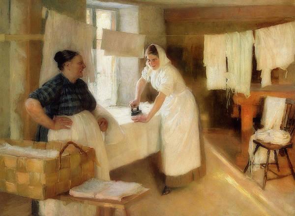 Wall Art - Painting - Washerwomen by Albert Edelfelt