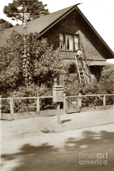 Photograph - Washing Windows Pacific Grove by California Views Archives Mr Pat Hathaway Archives