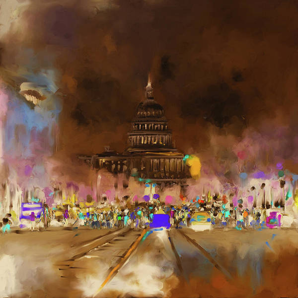 Mall Painting - Washington 478 IIi by Mawra Tahreem