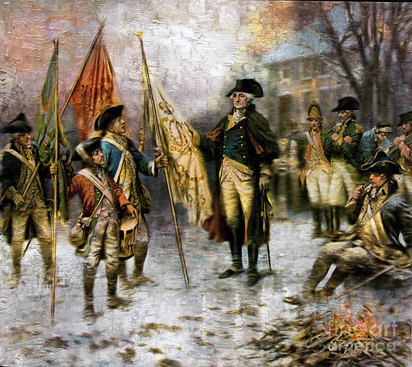 Painting - Washington After Battle Of Trenton by Carlos Diaz