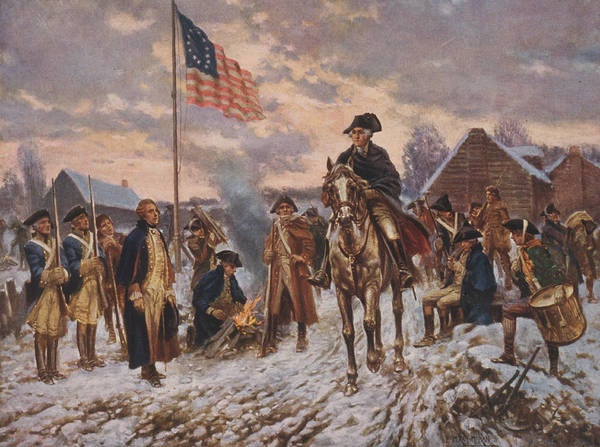 Encampment Wall Art - Painting - Washington At Valley Forge by Percy Moran