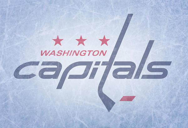 Wall Art - Mixed Media - Washington Capitals Vintage Hockey At Center Ice by Design Turnpike