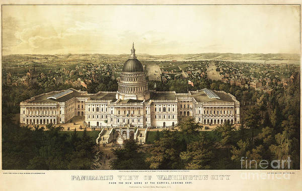 Wall Art - Photograph - Washington City 1857 by Jon Neidert