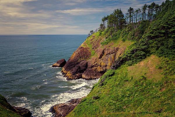 Seacoast Photograph - Washington Coastline Near North Head Lighthouse by Joan Carroll