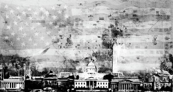 Capitol Digital Art - Washington Collage by Arthur Charpentier