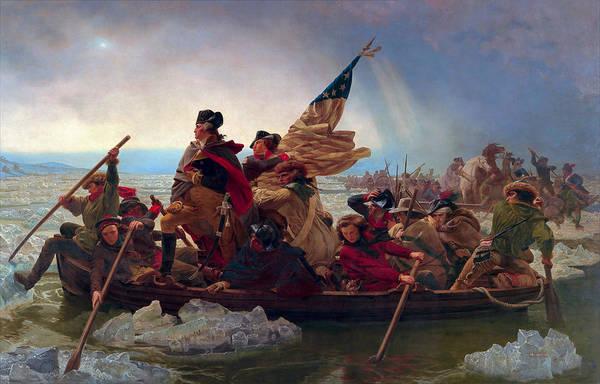The Patriot Photograph - Washington Crossing The Delaware by Daniel Hagerman