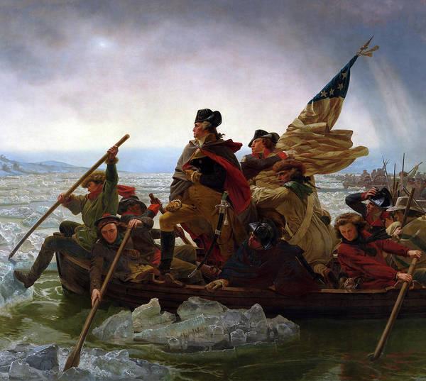 Wall Art - Painting - Washington Crossing The Delaware River - Detail by Emanuel Gottlieb Leutze