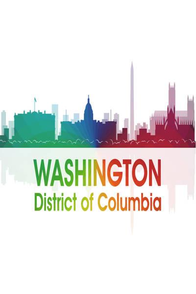 Digital Art - Washington Dc 1 Vertical by Angelina Tamez