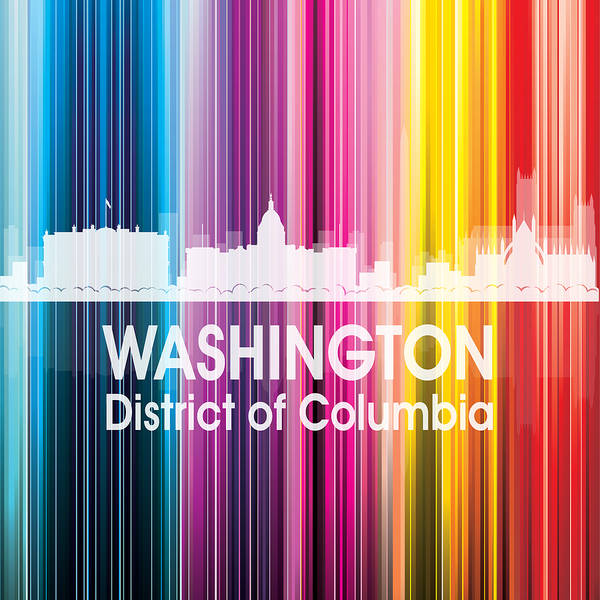 Digital Art - Washington Dc 2 Squared by Angelina Tamez