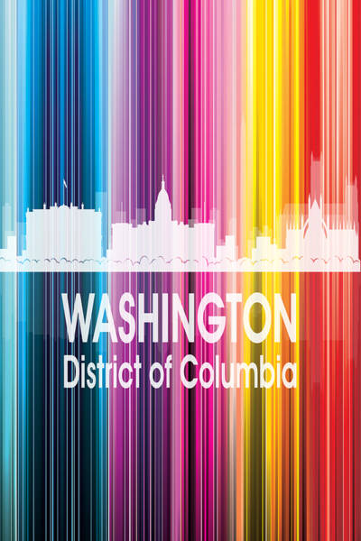 Digital Art - Washington Dc 2 Vertical by Angelina Tamez