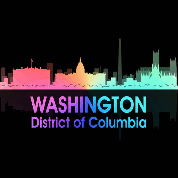Digital Art - Washington Dc 5 Squared by Angelina Tamez