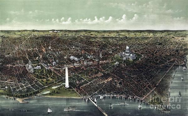 Washington D.c Painting - Washington D.c. Birds-eye View by Celestial Images