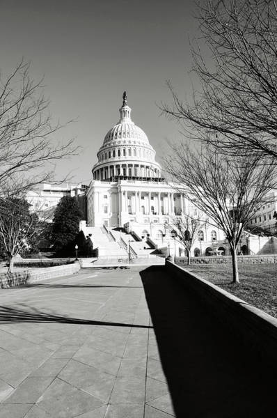 Photograph - Washington Dc - Capitol Hill Building In Winter by Brandon Bourdages