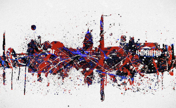 Washington D.c Painting - Washington Dc Colorful Skyline by Dan Sproul