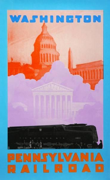 Capitol Drawing - Washington Dc by David Studwell