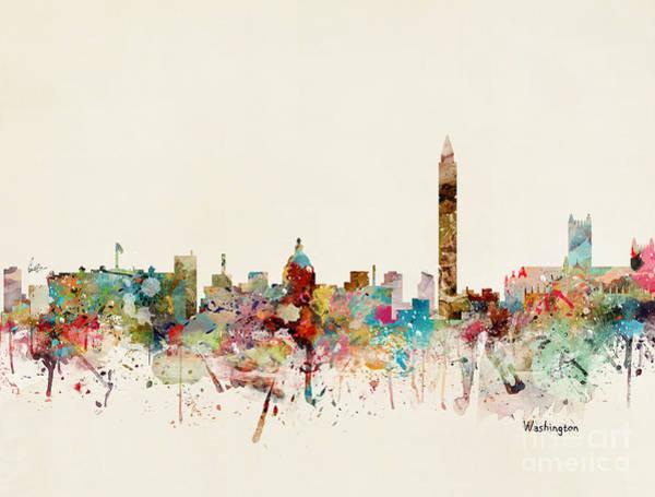 Dc Wall Art - Painting - Washington Dc Skyline by Bri Buckley