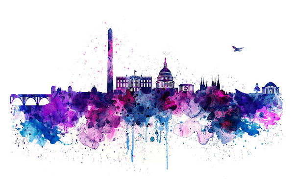 Wall Art - Painting - Washington Dc Skyline by Marian Voicu