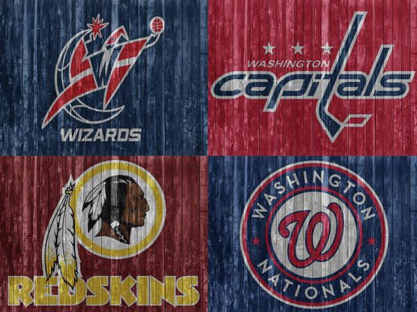 Mixed Media - Washington Dc Sports Teams by Dan Sproul