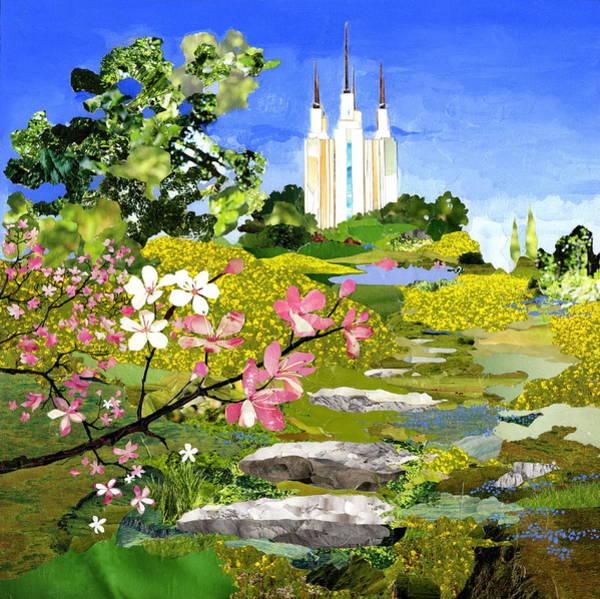 Temple Mixed Media - Washington Dc Temple by Robin Birrell