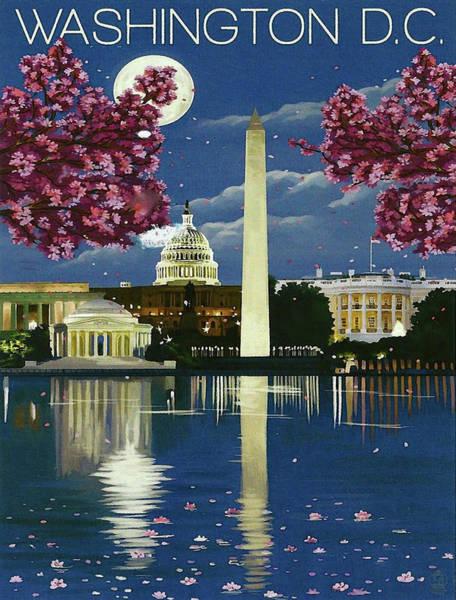 Reflections Digital Art - Washington D.c., The White House by Long Shot
