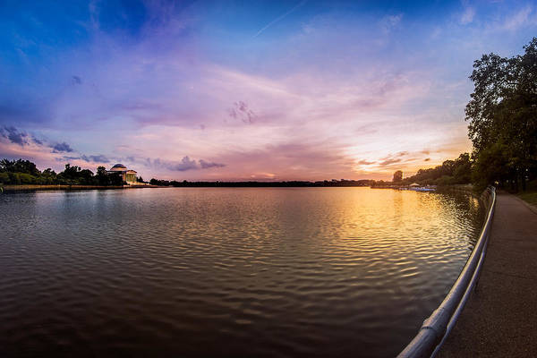 Photograph - Washington D.c Tidal Basin Sunset by Chris Bordeleau