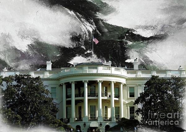 Washington D.c Painting - Washington Dc, White House by Gull G