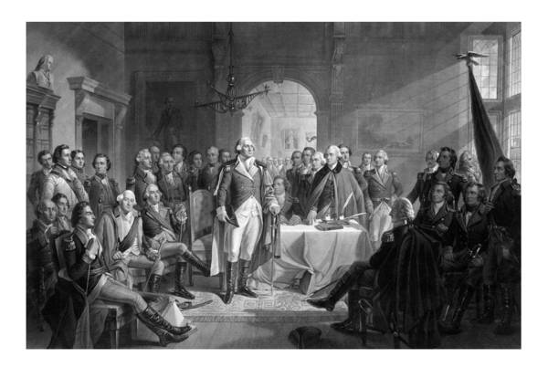 Revolution Wall Art - Drawing - Washington Meeting His Generals by War Is Hell Store