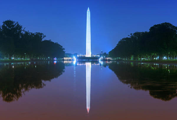 Photograph - Washington Memorial And Reflecting Pool by Rima Biswas