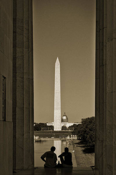Photograph - Washington Monument And Capitol #4 by Stuart Litoff
