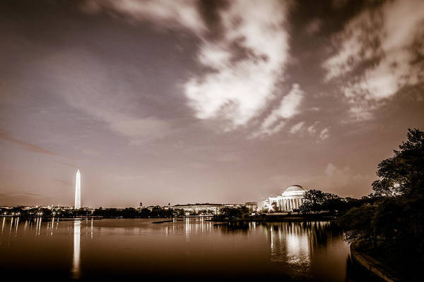 Photograph - Washington Monument And Thomas Jefferson Memorial by Chris Bordeleau