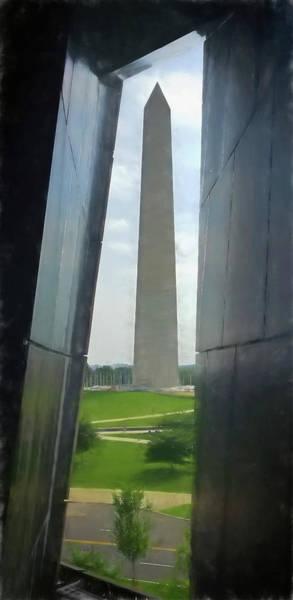 Photograph - Washington Monument Artistic by Joan Carroll
