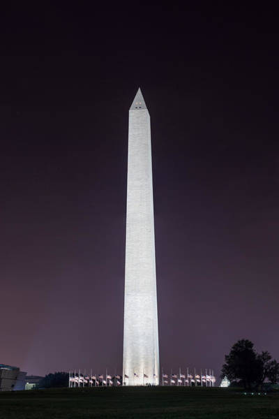 Photograph - Washington Monument At Night by Chris Bordeleau