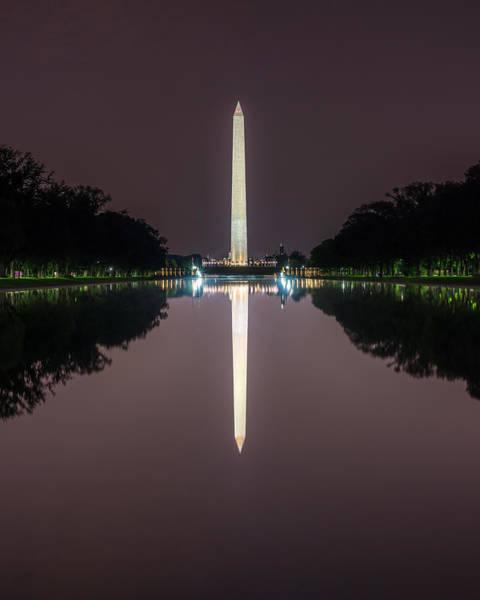 Photograph - Washington Monument   Reflection by Chris Bordeleau