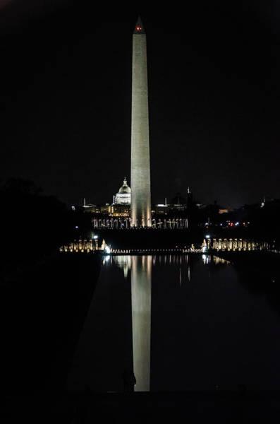 Photograph - Washington Monument Reflection by Stewart Helberg