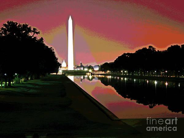 Photograph - Washington Monument Sunrise 2 by Larry Oskin
