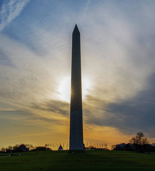 Wall Art - Photograph - Washington Monument - Sunrise by Bill Cannon
