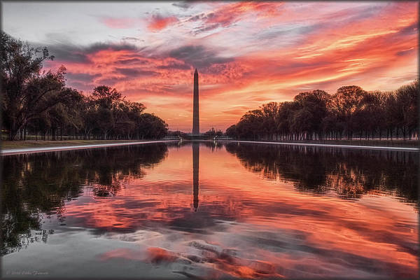 Photograph - Washington Monument Sunrise by Erika Fawcett