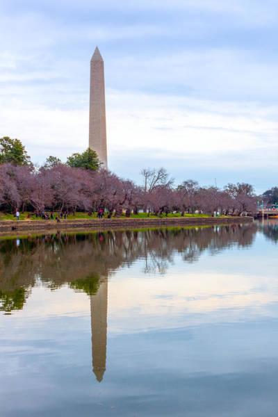 Photograph - Washington Monument Tidal Basin Reflections by SR Green