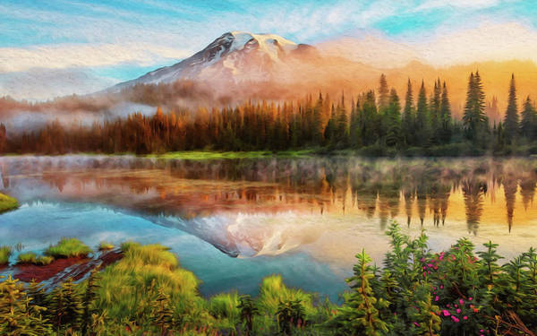 Washington, Mt Rainier National Park - 04 Art Print