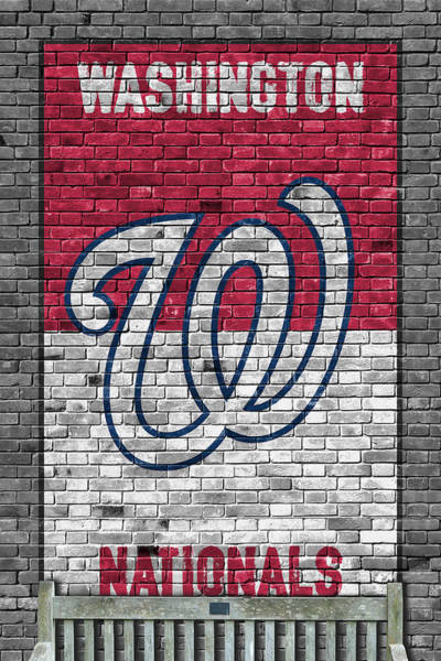 Outfield Wall Art - Painting - Washington Nationals Brick Wall by Joe Hamilton