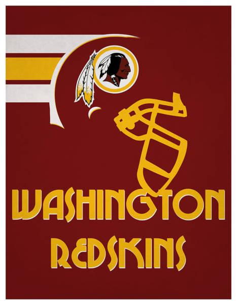 Wall Art - Mixed Media - Washington Redskins Team Vintage Art by Joe Hamilton