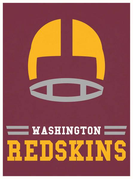Wall Art - Mixed Media - Washington Redskins Vintage Nfl Art by Joe Hamilton
