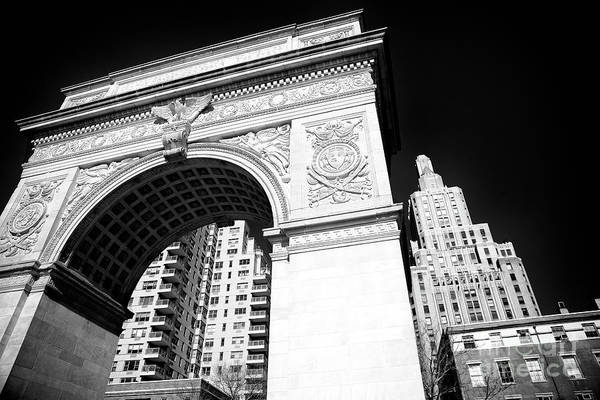 Photograph - Washington Square Arch by John Rizzuto