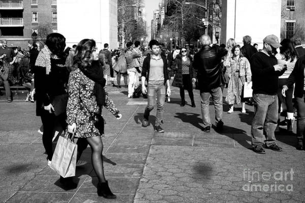 Photograph - Washington Square Gathering by John Rizzuto