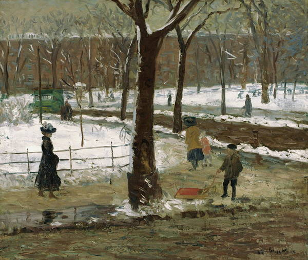 Wall Art - Painting - Washington Square by William James Glackens