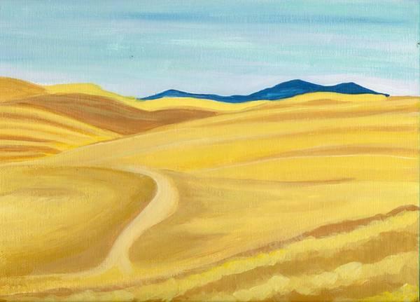 Barley Painting - Washington Wheat Fields by Sarah Hamilton