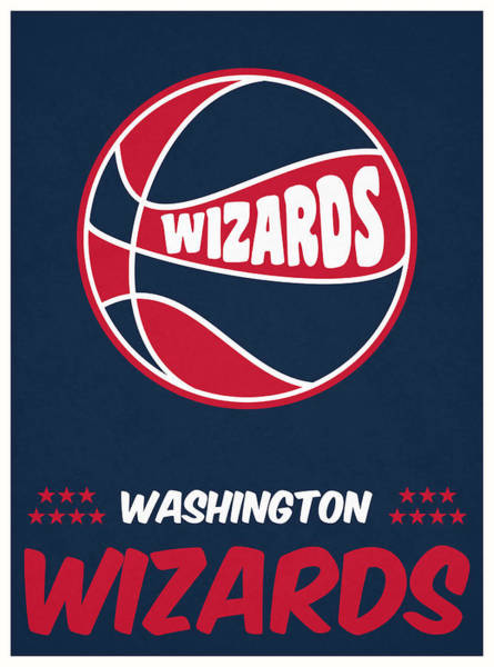 Wall Art - Mixed Media - Washington Wizards Vintage Basketball Art by Joe Hamilton
