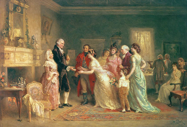 Guest Painting - Washingtons Birthday by Jean Leon Jerome Ferris
